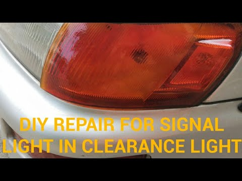 DIY REPAIR FOR SIGNAL LIGHT IN CLEARANCE LIGHT FOR COROLLA 1997