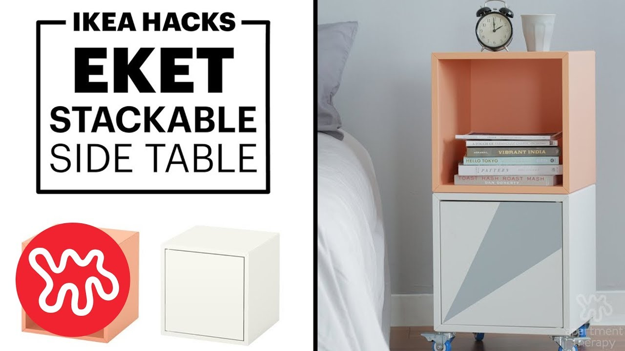 Hacking Ikea Hack A Side Table Or Bar Cart Youtube
