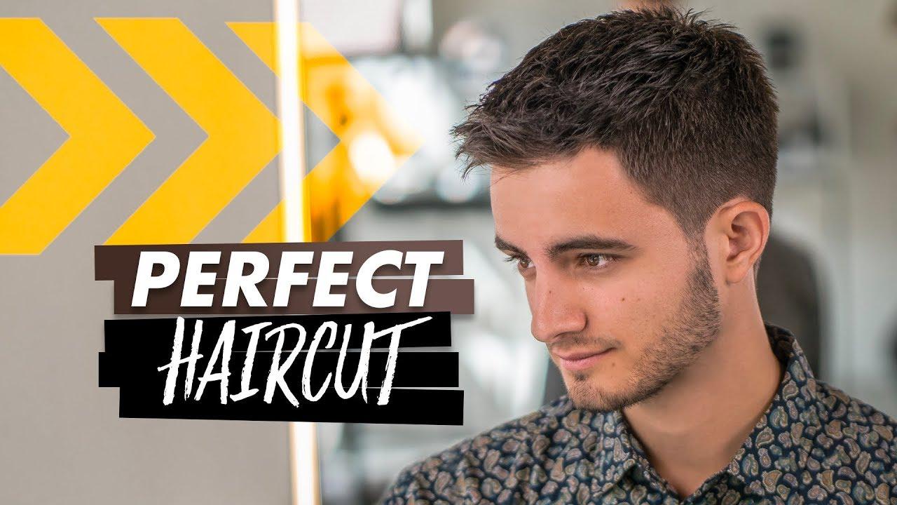 Perfect Haircut For Men Short Hair Tutorial Youtube