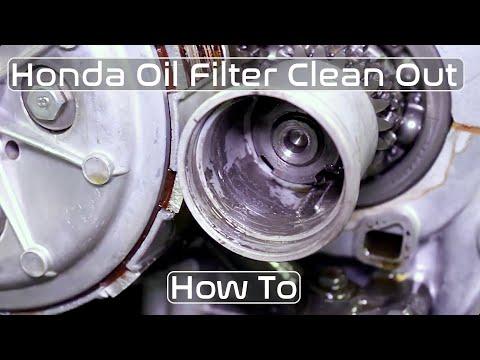Honda CB350 CB360 CB450 Oil Filter Clean How To