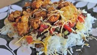 -g.m.t- Chicken Fajita Rice Plate