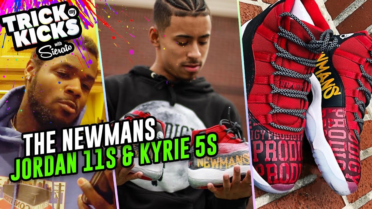 meet 39510 66d22 Julian Newman Gets FIRE Jordan 11 Customs From Sierato! Jaden Newman Cops  Some Kyries 🔥