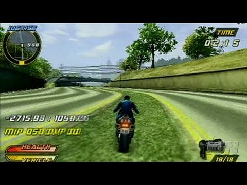 Pursuit Force: Extreme Justice Sony PSP Gameplay - Train