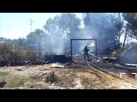 VÍDEO: Algunas imágenes del Incendio junto a la carretera de Rute