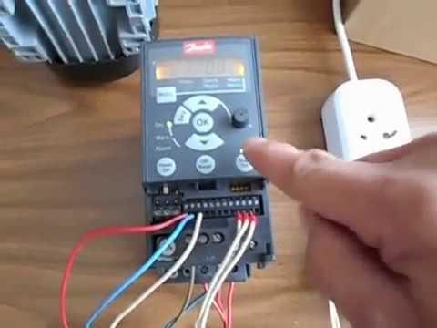 видео: Настройка преобразователя частоты danfoss vlt micro fc 51