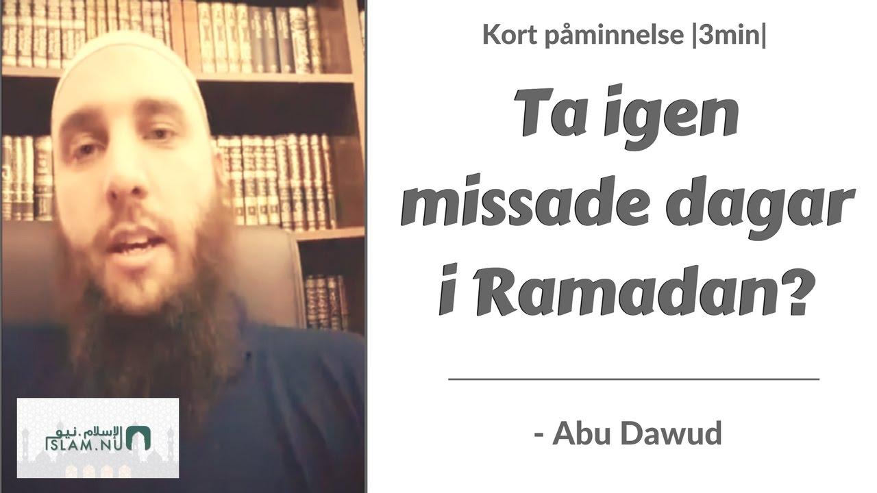 Påminnelse: Ta igen missade dagar i Ramadan?   3min  