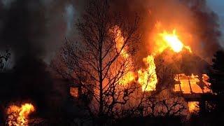Großbrand in Herdecke – Jugendstilvilla bis auf Grundmauern abgebrannt