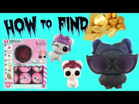 LOL Surprise Pets Series 4 Eye SPY Gold Ball Hack ~ Dusk Raven + Mice Found!!