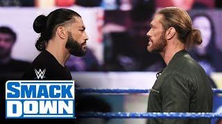 Edge gets confronted by Roman Reigns and Sami Zayn: SmackDown, Feb. 19, 2021