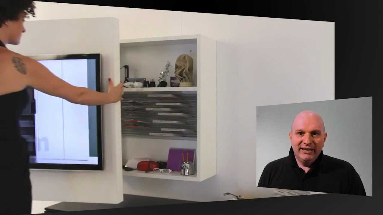 porta tv rack orientabile e girevole by fimar - youtube - Mobili Tv E Librerie