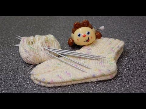 Вязание для детей спицами носки