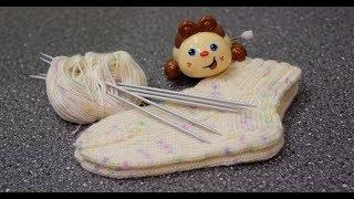 Вяжем детские носочки спицами. Носочки на любой размер.