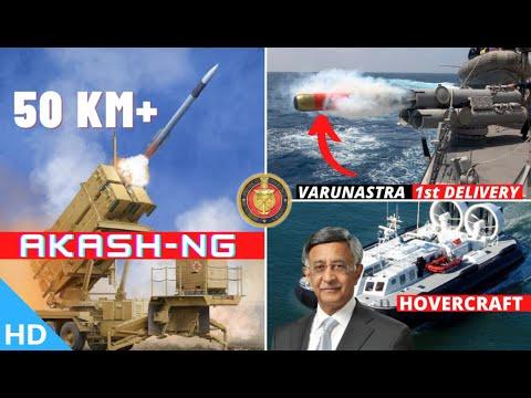 Download Indian Defence Updates : 50 Km+ Akash-NG Test,1st Varunastra Delivery,Bharat Forge Hovercraft,SITMEX