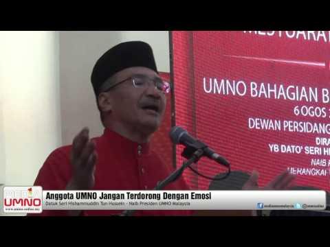Anggota UMNO Jangan Terdorong Dengan Emosi – Hishammuddin