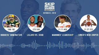 UNDISPUTED Audio Podcast (10.02.19) with Skip Bayless, Shannon Sharpe & Jenny Taft | UNDISPUTED