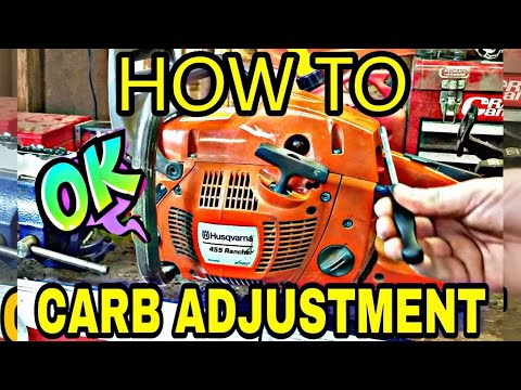 How To Actually Tune A Chainsaw!