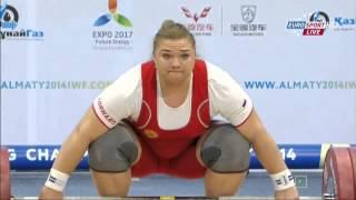 Тяжелая атлетика  Чемпионат Мира  Женщины свыше 75 кг  16 11 2014 Татьяна Каширина