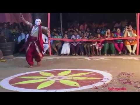 Performing Arts: Seraikela Chhau, Aarti by Manoranjan Sahu, Srikalapith