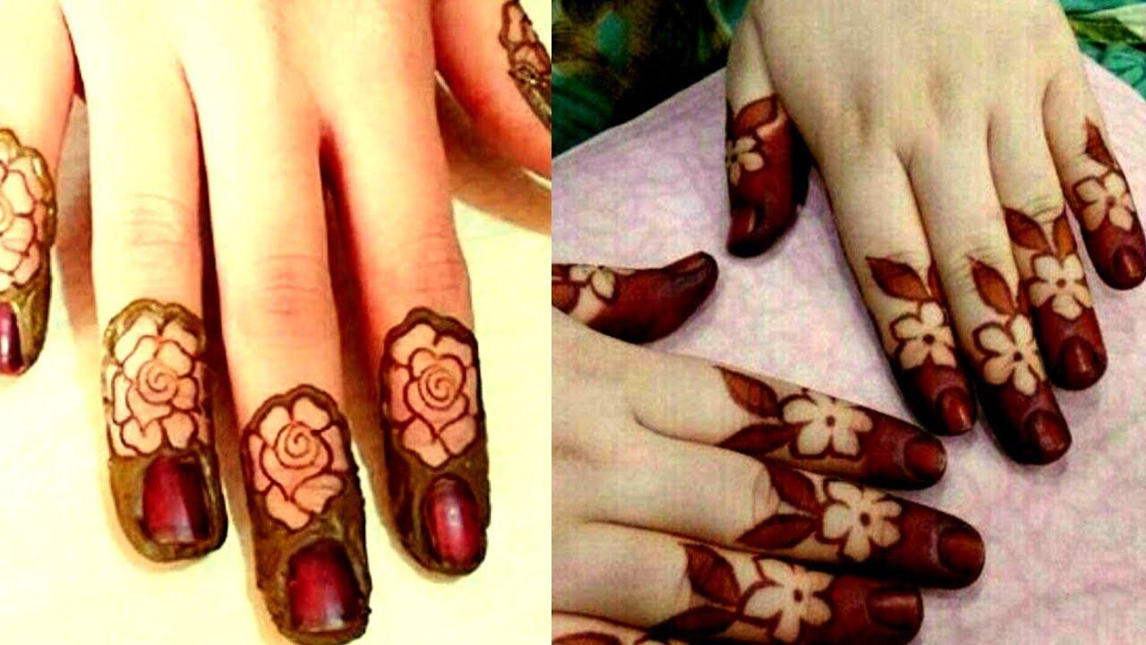 2 Easy Beautiful Flower Finger Tip Mehndi Design Latest Finger Tip