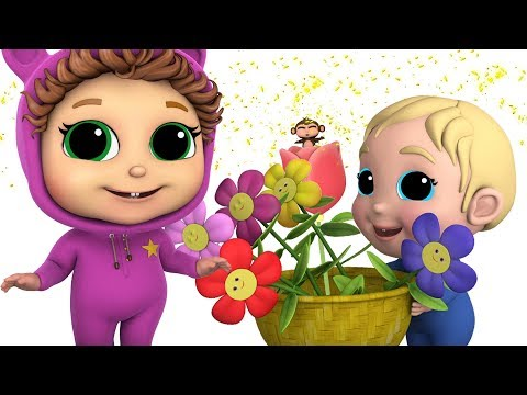 Spring Flowers | Baby Joy Joy | Learn Counting