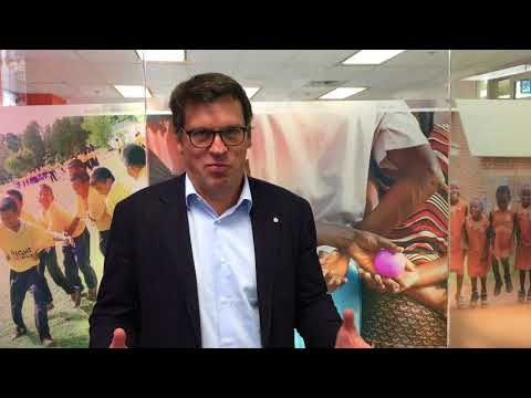 Founder Johann Olav Koss talks about ASICS in store campaign for Right To Play