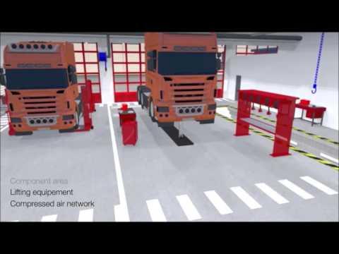 Xpertive turn key automotive workshop youtube for Truck repair shop floor plans