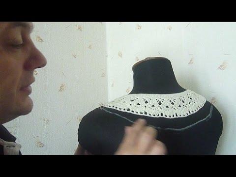 Вяжем красивущую кофточку на кокетке крючком 3 Серия