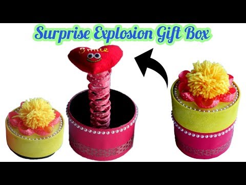 How to make Surprise Pop up gift box- Exploding box   Christmas Crafts