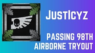 Passing 98th Airborne Tryout | IRF Military | Roblox
