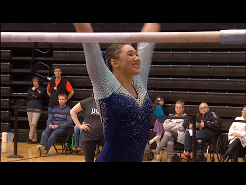 Highlights: Kyla Ross scores a perfect 10 for UCLA Gymnastics in uneven bars