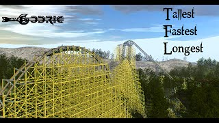 rmc wooden roller coaster godric no limits 2