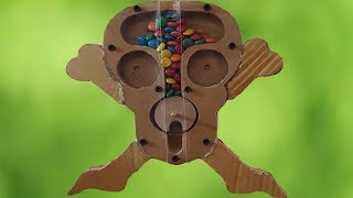 How to Make Ghost Head Rolling candy from Cardboard