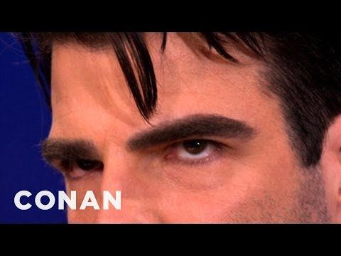 Zachary Quinto Has Serial Killer Eyebrows - CONAN on TBS