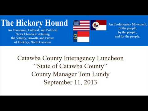 20130911-  State of Catawba County  - Tom Lundy