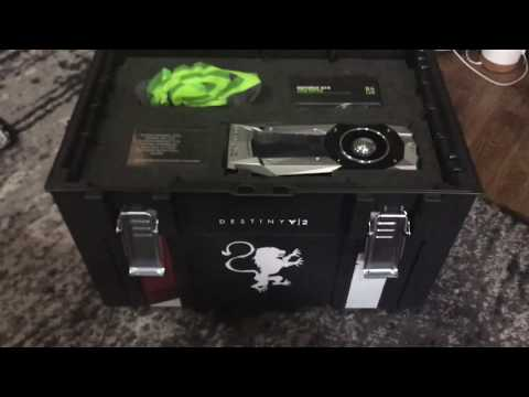 Crazy Real Life Destiny 2 Care Package From NVIDIA! GTX 1080 Ti!