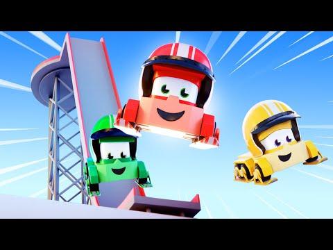 мультики с грузовиками для детишек - Прыжок с трамплина - Truck Games