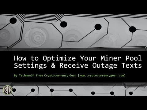 Crypto Mining Pool Settings And Setting Up Free Miner Outage Mobile Text Message Notifications
