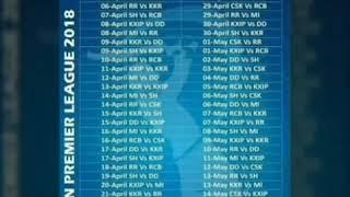 IPL 2018 ka Full schedule aur sb se mehnge retained players dekhne k liye yeah video dekhe
