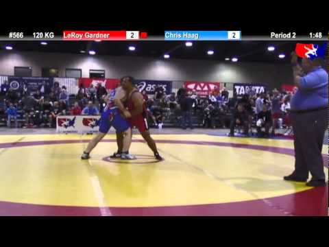 2011 U.S. Open SAT GR 120 KG: LeRoy Gardner vs. Chris Haag Cons. Round 1