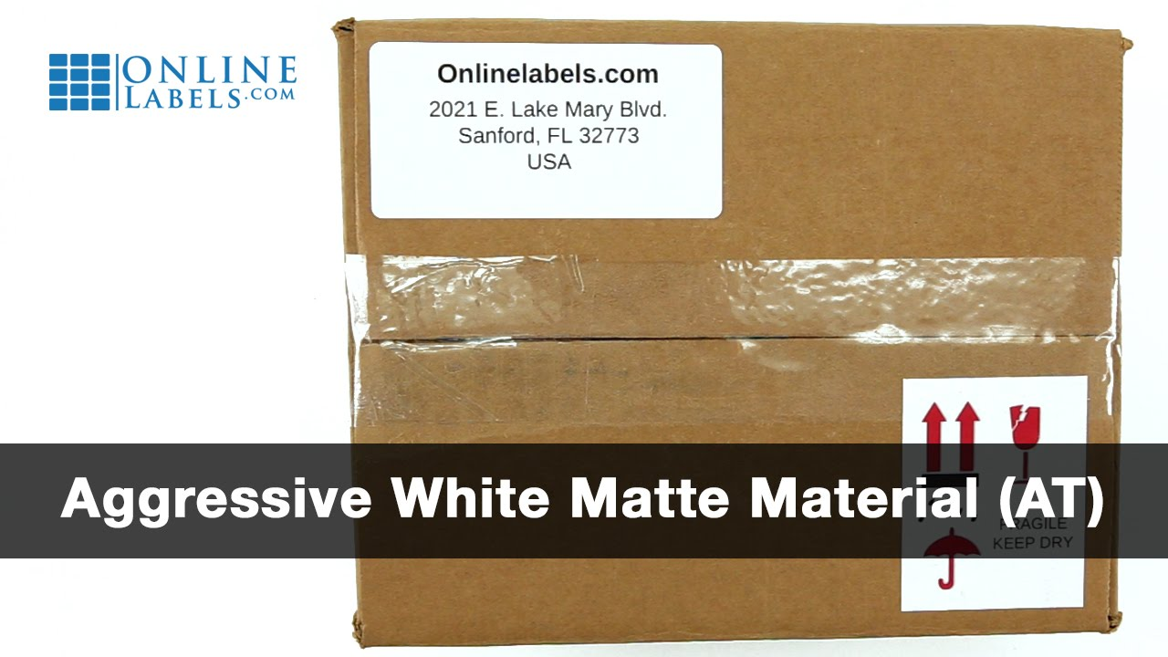 aggressive white matte labels shop strong adhesive labels on sheets onlinelabels com [ 1280 x 720 Pixel ]