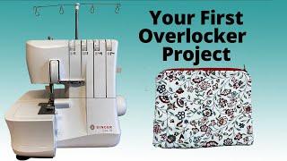 First Overlocker Project- Zip Purse on Lidl Singer S14-78 Machine | Abi's Den ✂️🧵🌸