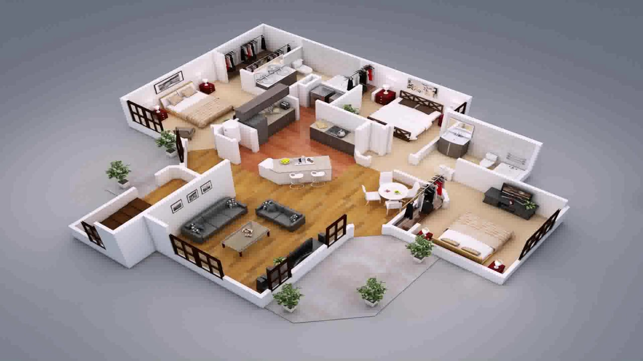 Convert pdf floor plan to 3d free youtube for One floor house design plans 3d