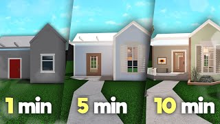 building a house in 1 minute, 5 minutes and 10 minutes (bloxburg)