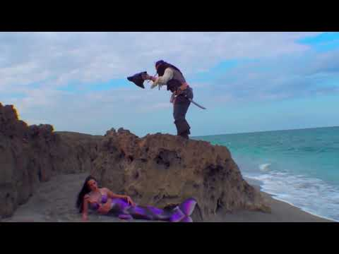Pirate Jack Meets a Real-Life Mermaid on the Beach - YouTube