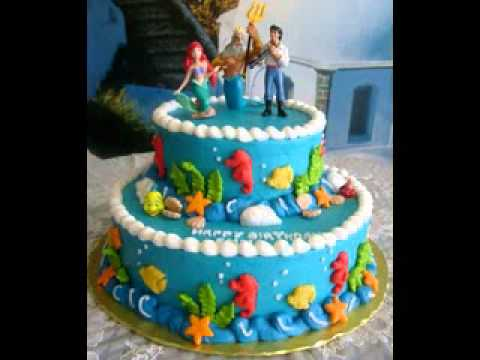 Cute Little Mermaid Cake Decorating Ideas Youtube