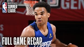 CLIPPERS vs WIZARDS   Terance Mann Records Near Triple-Double   MGM Resorts NBA Summer League