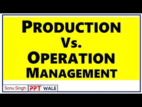 PRODUCTION VS OPERATION MANAGEMENT | DIFFERENCE | BBA/MBA/BCOM | ppt