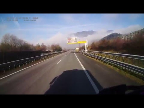 Austria. Motorway A10 Tauern Autobahn, 182-0 km. 2015-12, 1x