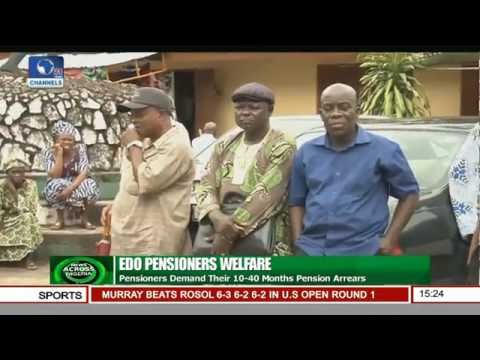 News Across Nigeria: Retirees Protest In Benin City