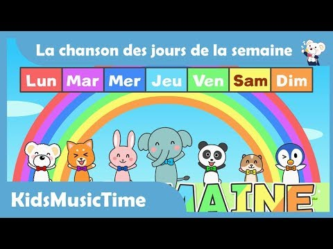 Days of the Week Song in French | Learning the Days of the Week in French! | KidsMusicTime